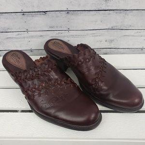 Clark's Artisan Leather Mule Loafers Sz 8
